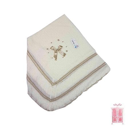 Toquilla de perlé con lacito