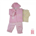 Conjunto 3 piezas para niña con chaquetón