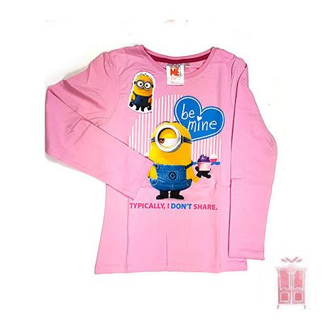 Camiseta Minion en rosa claro